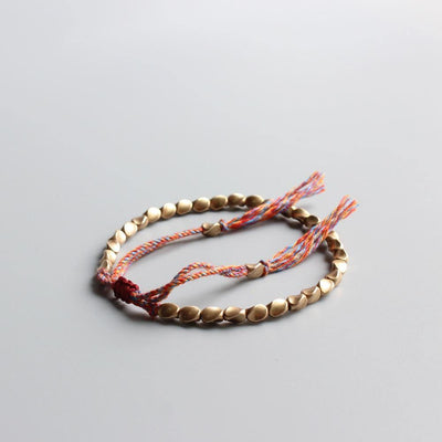 Tibetan Copper Beads Lucky Bracelet - One Lucky Wish
