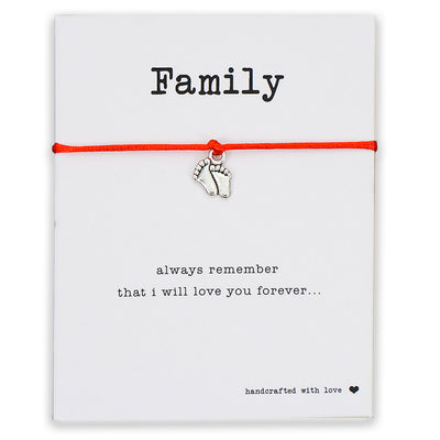 Our Family is Lucky Red String Bracelet - One Lucky Wish