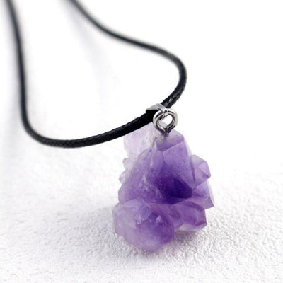 Natural Amethyst Quartz Pendant Necklace - One Lucky Wish