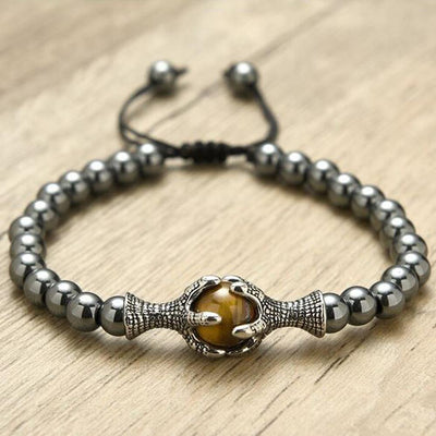 Dragon Claw Charm Bracelet with Hematite Touchstone - One Lucky Wish