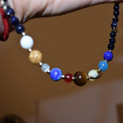 Solar System Bead Necklace and Bracelet - One Lucky Wish
