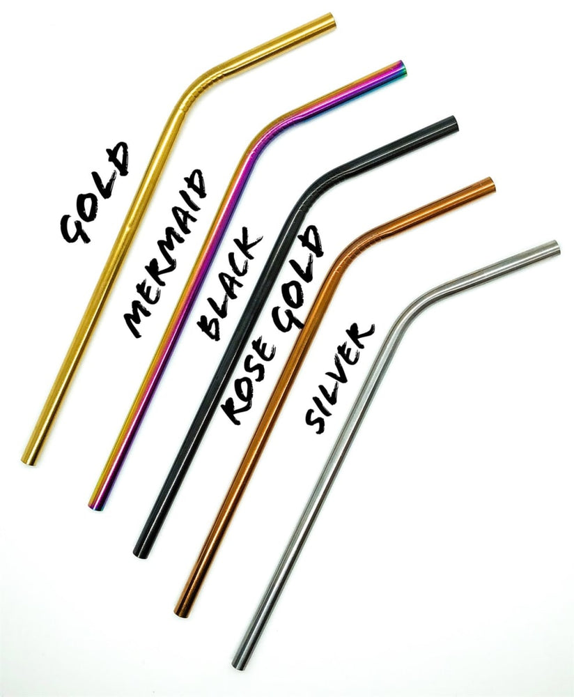 Stainless Steel Straws | Set of 2