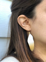 Glitter Dipped Feather Earrings