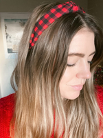 Plaid Top Knot Headband