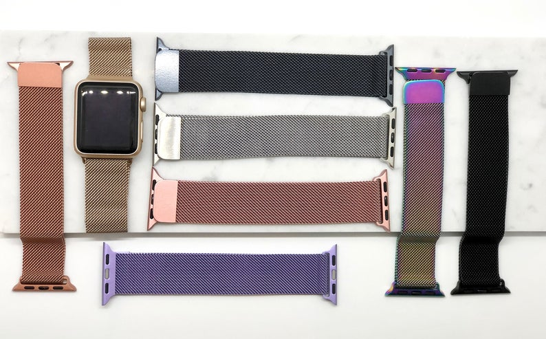 Stainless Steel Milanese Apple Watch Bands