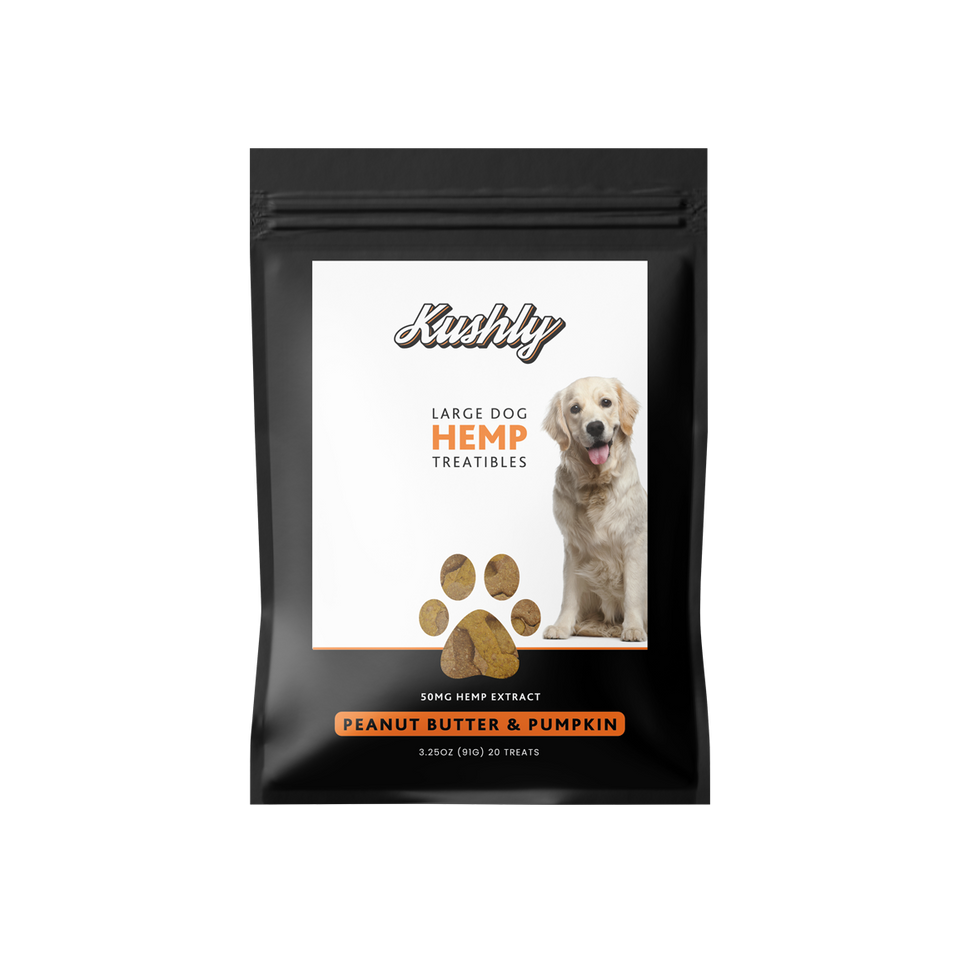 Large Dog Hemp Treats - Peanut Butter & Pumpkin