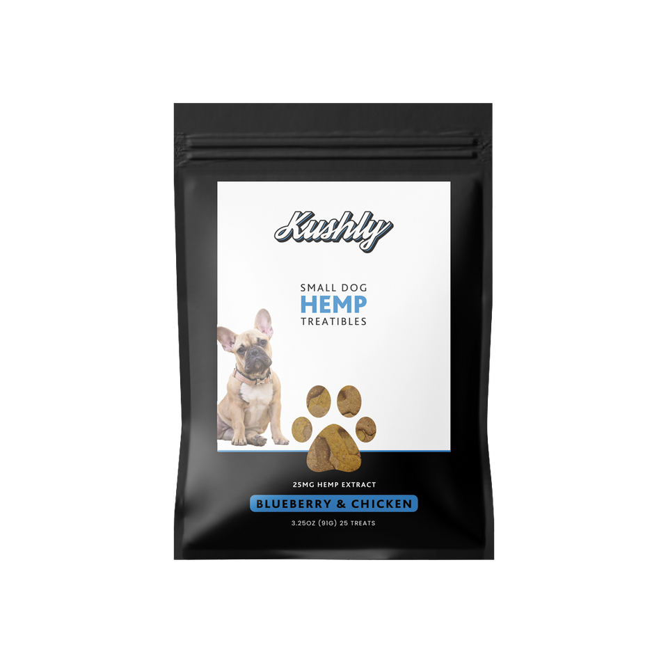 Small Dog Hemp Treats - Blueberry & Chicken