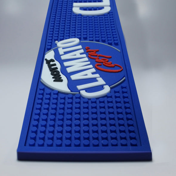 Caesar-branded bar rail mat