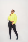 Neon Yellow Knit Sweater