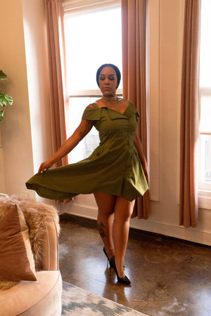 Alana Dress- Green