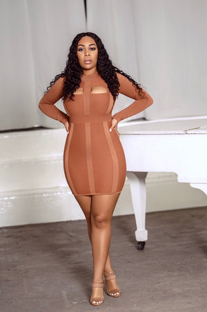 Mila Mini Dress- Sand