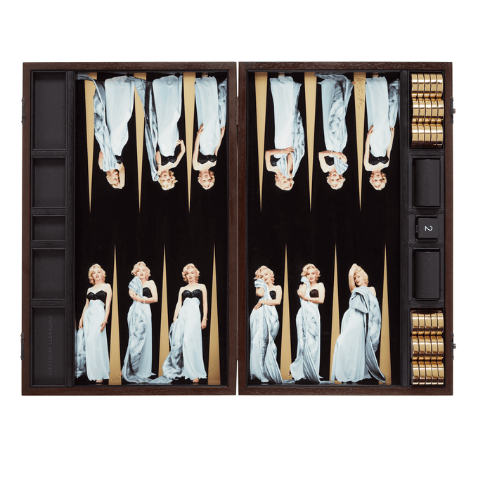 Marilyn Monroe Backgammon Set