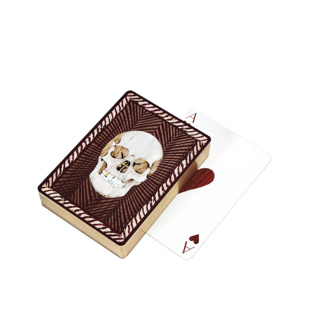 Skull Playing Cards | Burgundy
