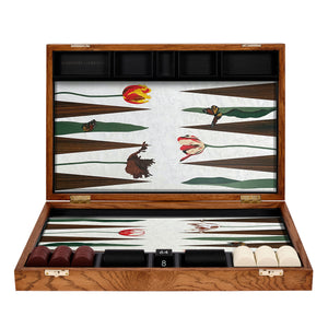 Tulip Marquetry Backgammon Set