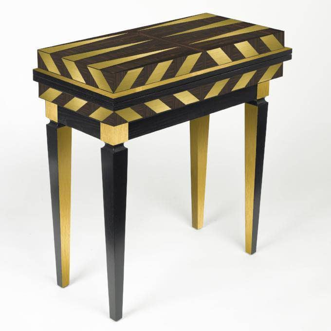 LOUISA TABLE - BRASS & EBONY