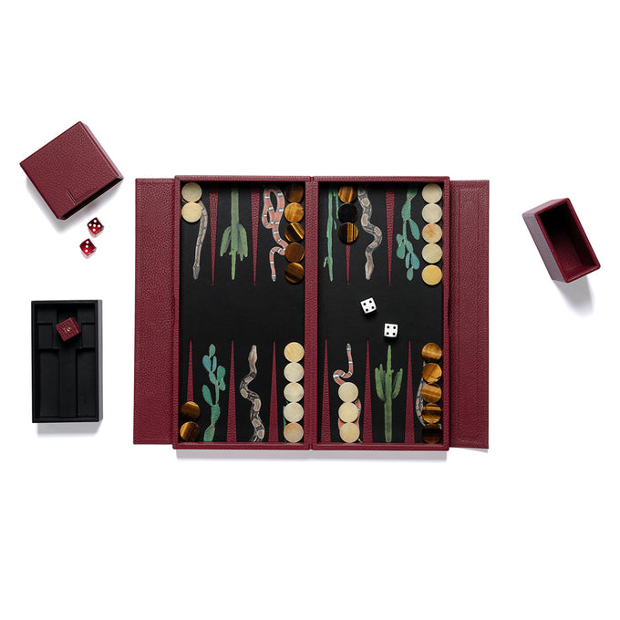 Snake Travel Backgammon Set