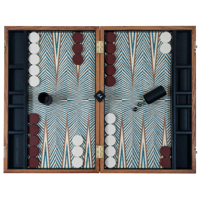 Abstract Turquoise Backgammon Set