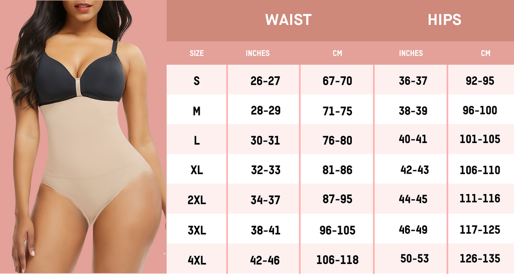 Shape Wear Size Guide