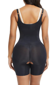LUX SEAMLESS OPEN-BUST SHAPER - MID THIGH