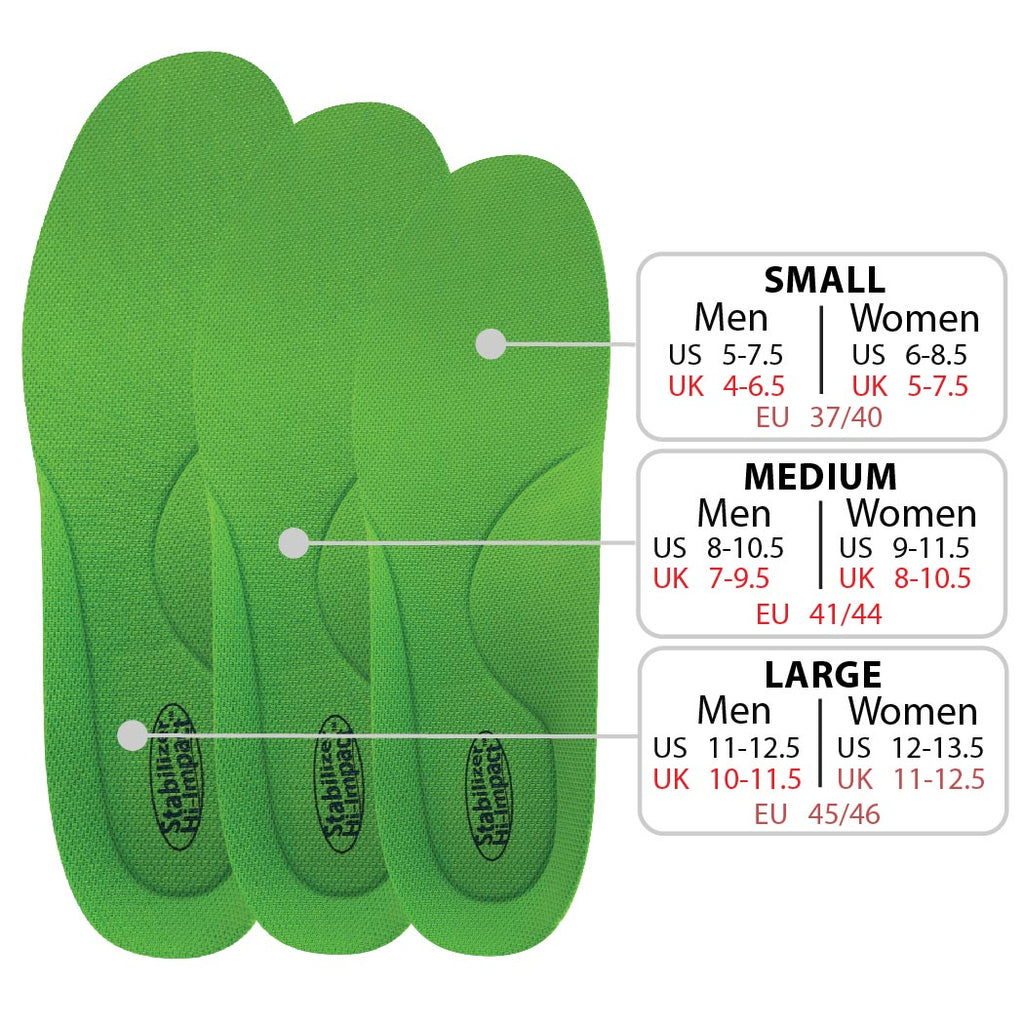 stabilizer orthotic insoles green sport athletic arch support