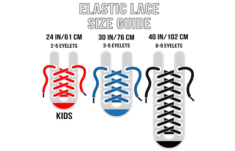 elastic lace size chart guide