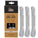 FootMatters Flat No Tie Elastic Stretch Shoe Laces - Foot Matters