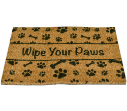Ninamar Door Mat Wipe Your Paws Natural Coir - 29.5 x 17.5 inch - Foot Matters