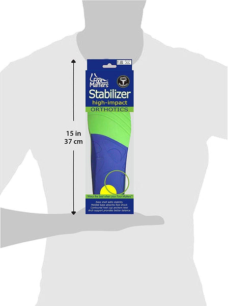 FootMatters Stabilizer Support Orthotic Insoles - Arch Support, Metatarsal and Heel Cradle - Foot Matters
