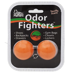 FootMatters Odor Fighters Shoe Deodorizer Balls - Keep Areas Smelling Fresh - Adjustable Vanilla Scent - Foot Matters