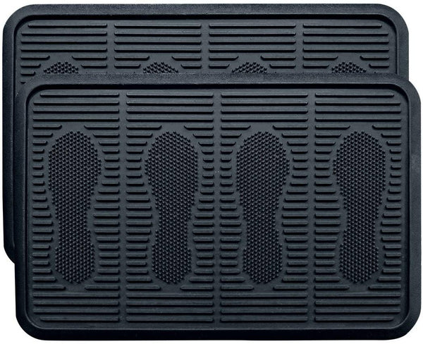 SafetyCare Rubber Shoe & Boot Tray - Multi-Purpose - 80 cm x 40 cm - 2 Mats - Foot Matters