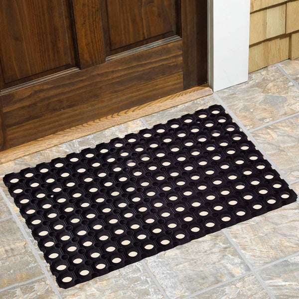 SafetyCare Interlocking Rubber Drainage Floor Mat - Anti-Fatigue - 24 x 16 inches - 12 Mats - Foot Matters