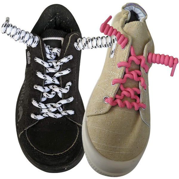 FootMatters Curly No Tye Shoe Laces - Elastic Spring Laces - No Tie Great for Elderly, Children, Fashion - One Size Fits All