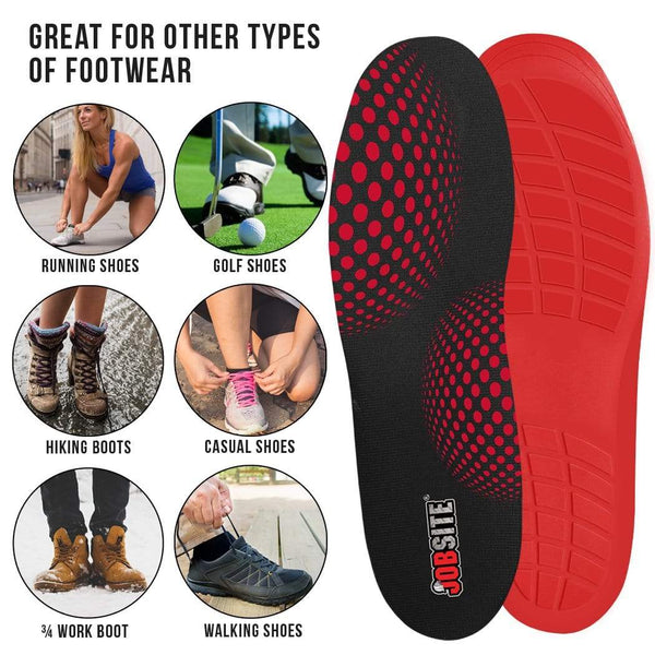 JobSite Boot//Hiker Comfort Support Orthotic Insoles w// Arch Support Metatarsal