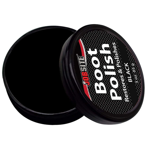 JobSite Premium Leather Boot & Shoe Polish Cream - Restores, Conditions & Polishes - 3 oz (85 g) - Foot Matters