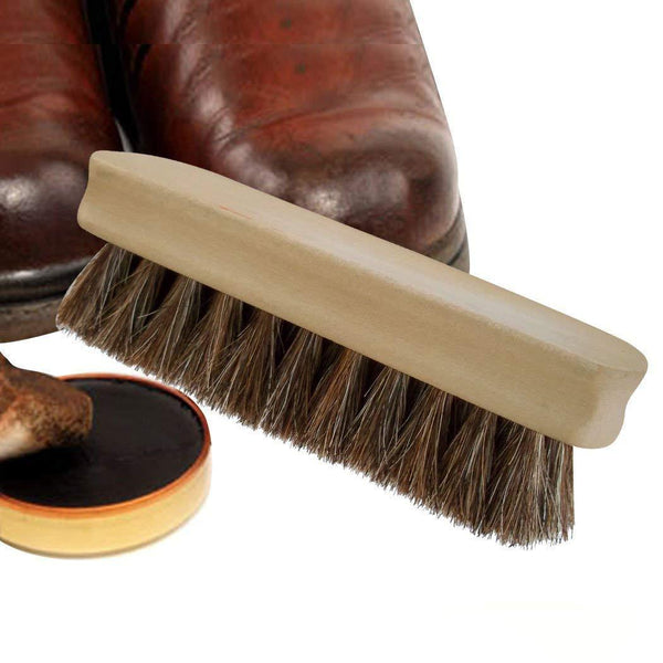 JobSite Horsehair Shine Brush - Foot Matters