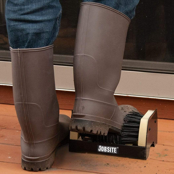 JobSite The Original Boot Scrubber - All Weather Industrial Shoe Cleaner & Scraper Brush - Foot Matters