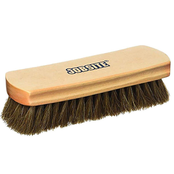 Genuine 100% Horsehair Professional Shoe Shine Brush - 6.75 inch long - Foot Matters