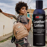 JobSite Premium Leather Lotion Softener & Conditioner- Cleans, Polishes, Protects - 8 oz - Foot Matters