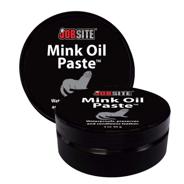 JobSite Premium Mink Oil Leather Waterproof Paste - Preserve Leather Boots & Shoes - 3 oz - Foot Matters