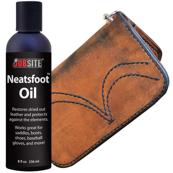 JobSite Prime Neatsfoot Oil Leather Waterproof Compound, 8oz - Foot Matters