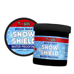 JobSite Snow Shield Waterproof Beeswax - Original Formula - Leather Protector - 6 oz - Foot Matters