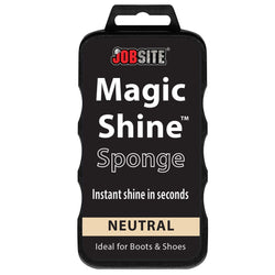 JobSite Instant Express Leather Boot & Shoe Shine Sponge - Fits in Purse or Bag for Quick Shine Buff on the Go for Leather & Vinyl Shoes, Boots, Purse, Belt and Car Auto Upholstery - Foot Matters