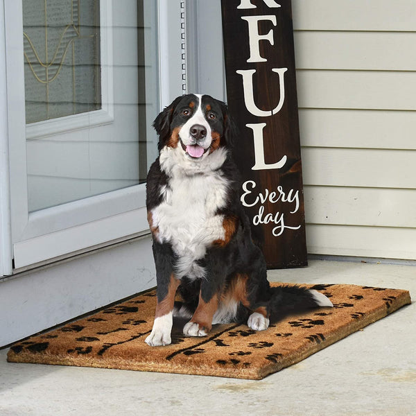 NINAMAR Woven Door Mat All Natural Coir - Extra Thick - 36 x 24 inch - Wipe Your Paws