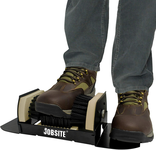 JobSite Extra Wide Boot Scrubber – No Mounting Required – All Weather Shoe Scraper Brush