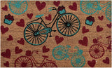 Ninamar Door Mat Vintage Bicycle Natural Coir – 29.5 x 17.5 inch