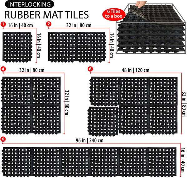 SafetyCare Interlocking Rubber Mat Tiles
