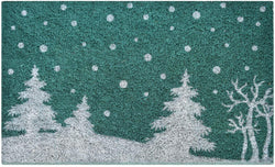 Ninamar Door Mat Winter Snowy Pines Natural Coir - 75 x 45 cm - Foot Matters