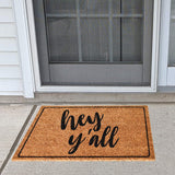 Ninamar Door Mat Hey Y'all Natural Coir - 75 x 45 cm - Foot Matters