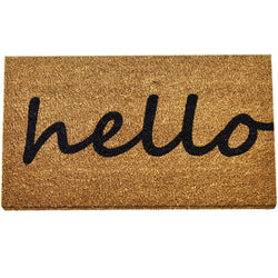 Ninamar Door Mat Hello Natural Coir - 75 x 45 cm - Foot Matters