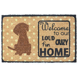 Ninamar Natural Coir Welcome Door Mat - 29.5 x 17.5 inch - Foot Matters